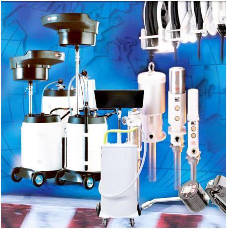 Оборудование для смазки и смены масла и технических жидкостей в автосервисе